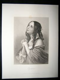 Pretty Lady 1867 Antique Print. Olympia